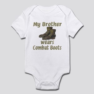 My Brother Wears Combat Boots Infant Bodysuit