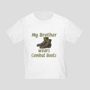 My Brother Wears Combat Boots Toddler T-Shi
