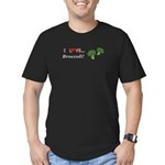 I Love Broccoli Men's Fitted T-Shirt (dark)