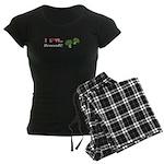 I Love Broccoli Women's Dark Pajamas