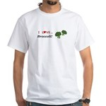 I Love Broccoli White T-Shirt