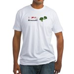 I Love Broccoli Fitted T-Shirt