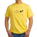 I Love Broccoli Yellow T-Shirt