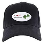 I Love Broccoli Black Cap