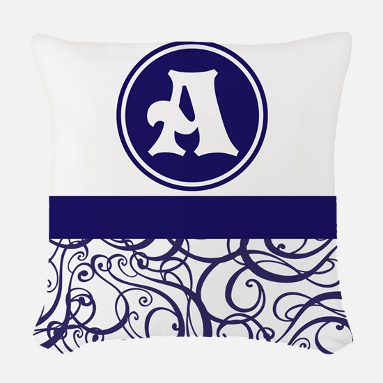 Purple Personalized Monogram Initial Woven Throw P