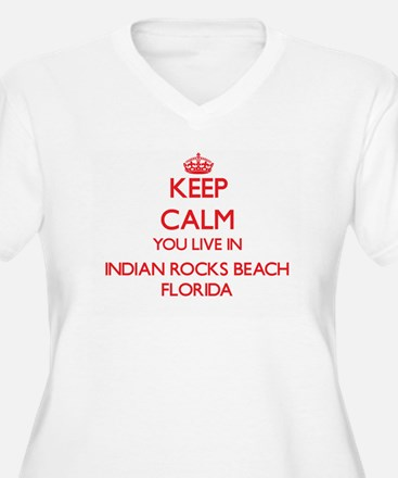 Keep calm you live in Indian Roc Plus Size T-Shirt