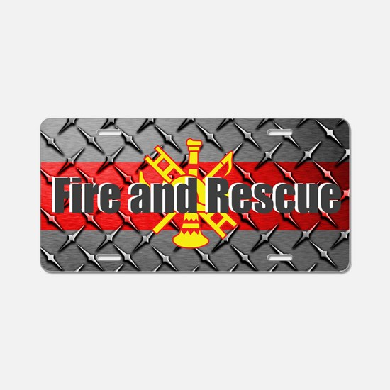 Firefighter Like Father Son Aluminum License Plate