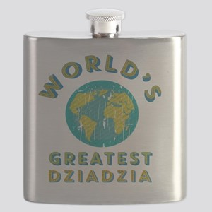 World's Greatest Dziadzia Flask