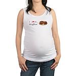 I Love Waffles Maternity Tank Top