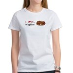 I Love Waffles Women's T-Shirt