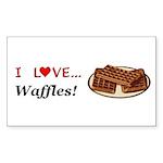 I Love Waffles Sticker (Rectangle 50 pk)