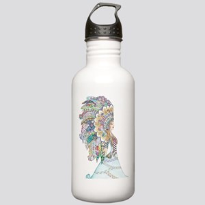 native american girl Water Bottle