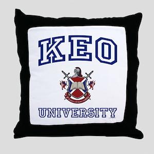 KEO University Throw Pillow