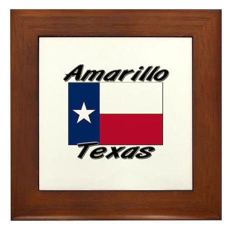 Amarillo Texas Framed Tile