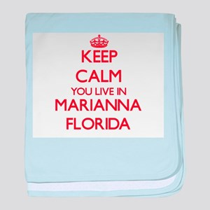 Keep calm you live in Marianna Florid baby blanket