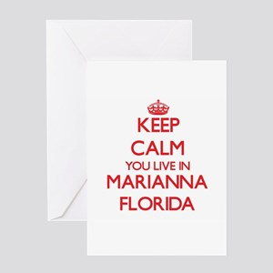 Keep calm you live in Marianna Flor Greeting Cards