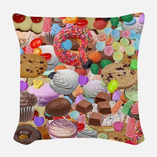 Sweet Treats Woven Throw Pillow