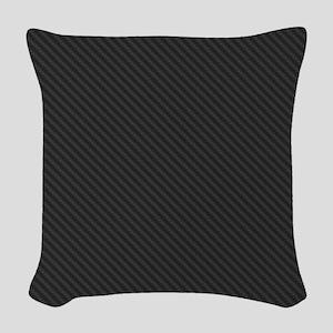Carbon Fiber look Woven Throw Pillow