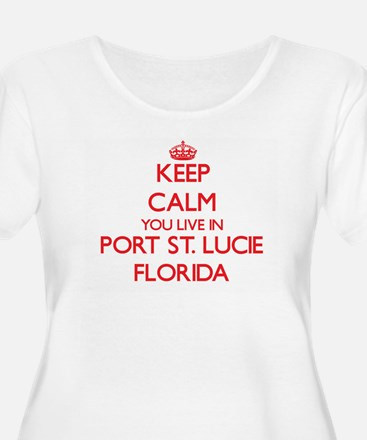 Keep calm you live in Port St. L Plus Size T-Shirt