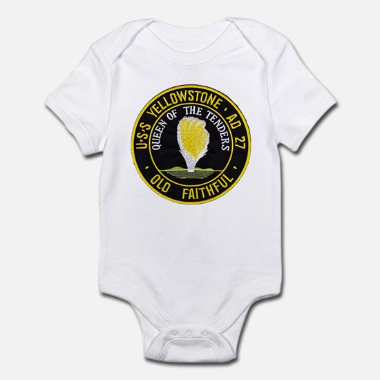 USS YELLOWSTONE Baby Light Bodysuit