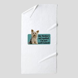 Yorkie Spoiled_T Beach Towel