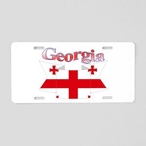 Georgia ribbon Aluminum License Plate