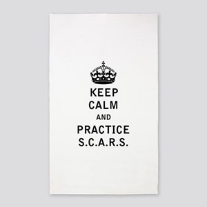 Keep Calm and Practice S.C.A.R.S Area Rug