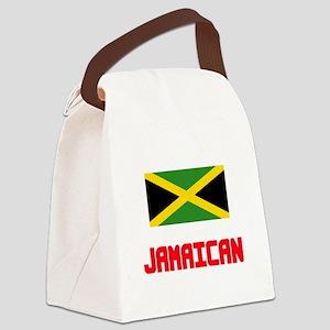 Jamaican Flag Design Canvas Lunch Bag