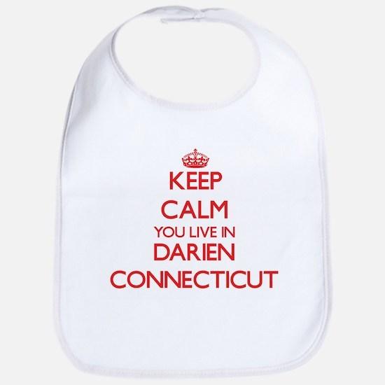 Keep calm you live in Darien Connecticut Bib