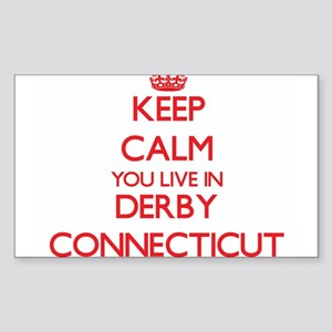 Keep calm you live in Derby Connecticut Sticker