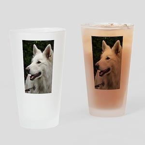white-shepherd-dog Drinking Glass