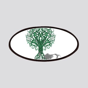Green Celtic Tree of Life Patches