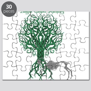 Green Celtic Tree of Life Puzzle