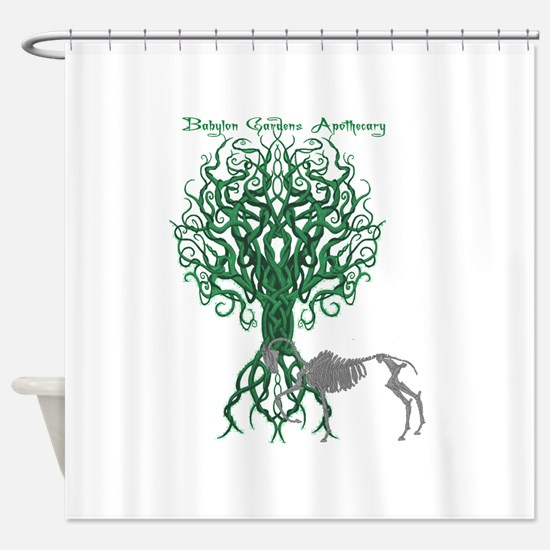 Green Celtic Tree of Life Shower Curtain