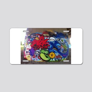 Graffiti Mural Aluminum License Plate
