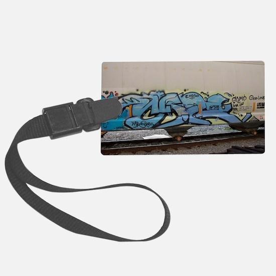 Blue hopper graf Luggage Tag