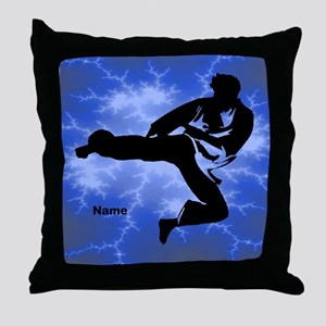 Martial Arts Kicker Throw Pillow