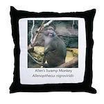 Allen's Swamp Monkey Throw Pillow