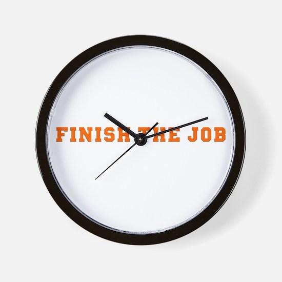 Finish the Job Wall Clock