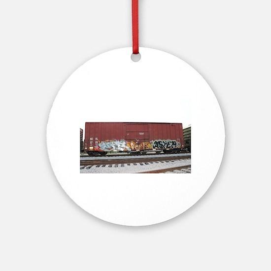 tag boxcar Ornament (Round)