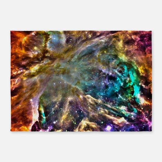 Colorful Cosmos 5'x7'Area Rug