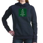 Keep Calm and Garden On Women's Hooded Sweatshirt