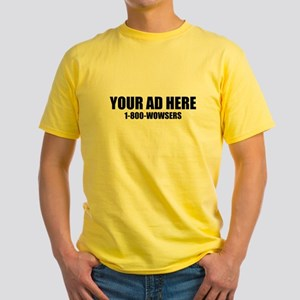 Your Ad Here Yellow T-Shirt