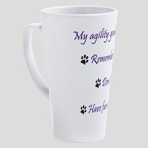 My Agility Goals 17 oz Latte Mug