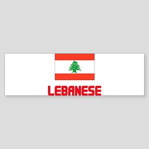 Lebanese Flag Design Bumper Sticker
