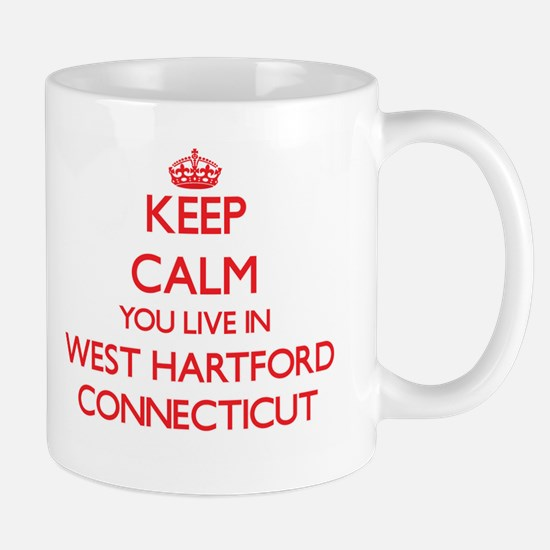 Keep calm you live in West Hartford Connectic Mugs