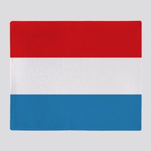 Luxembourg Flag Throw Blanket