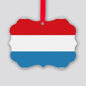Luxembourg Flag Picture Ornament