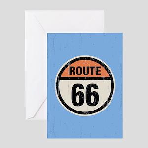 Round 66 Greeting Card