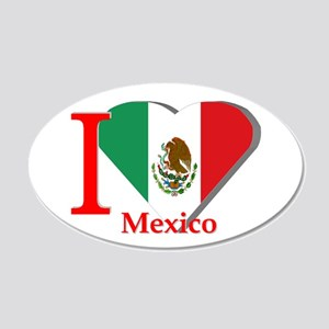 I Love Mexico 20x12 Oval Wall Decal